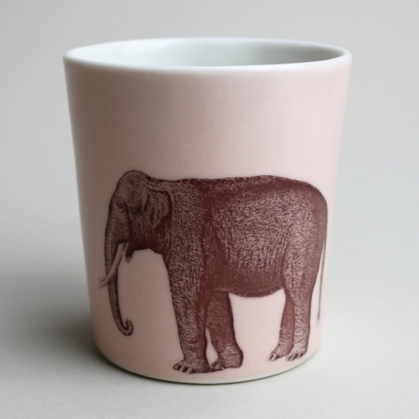 Image of 16oz tumbler with elephant, rose