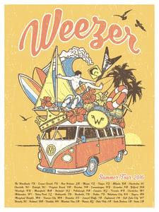 Image of Weezer Summer Tour 2016 Mustard Version