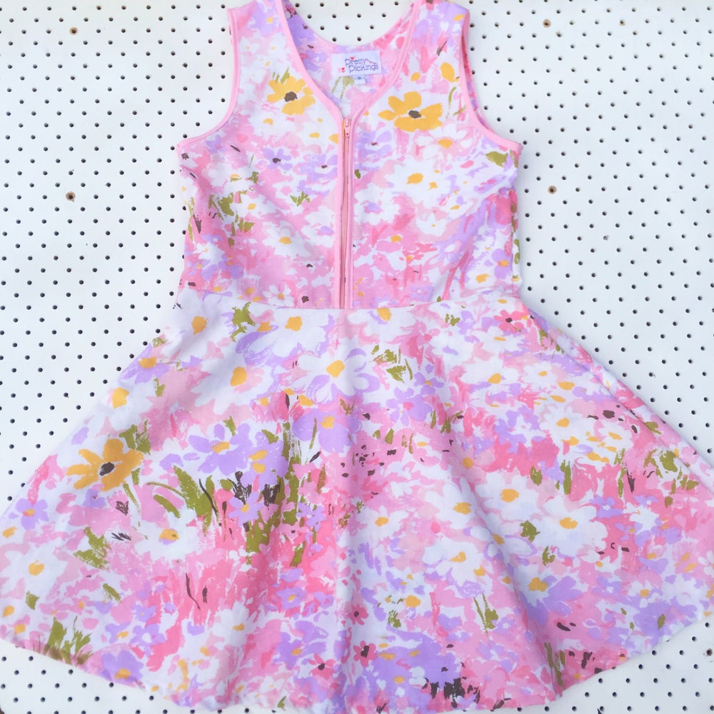 Image of Size 2 'vintage twirl' dress - Monet's garden
