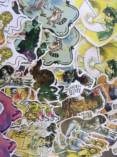 Image of Assorted stickers (3) Pack
