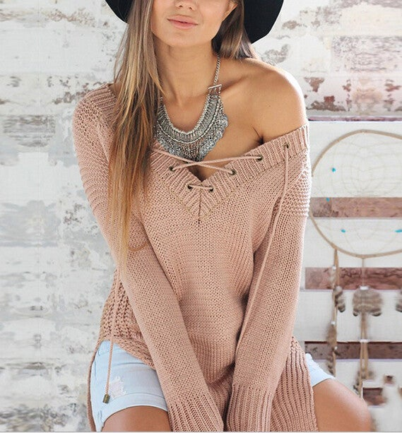 Image of DEEP V CROSS SWEATER