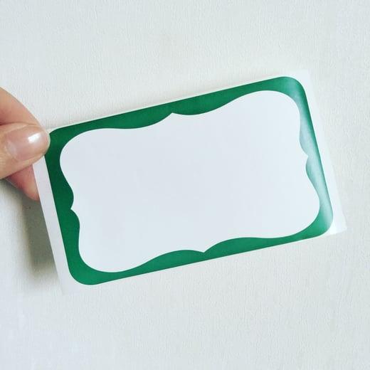 Green Wave Blank Eggshell Sticker