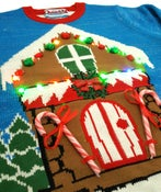 Image of Gingerbread House Light up Christmas Jumper - Unisex
