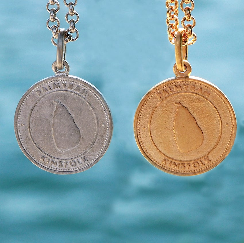 Image of Coin Pendant Silver and Gold