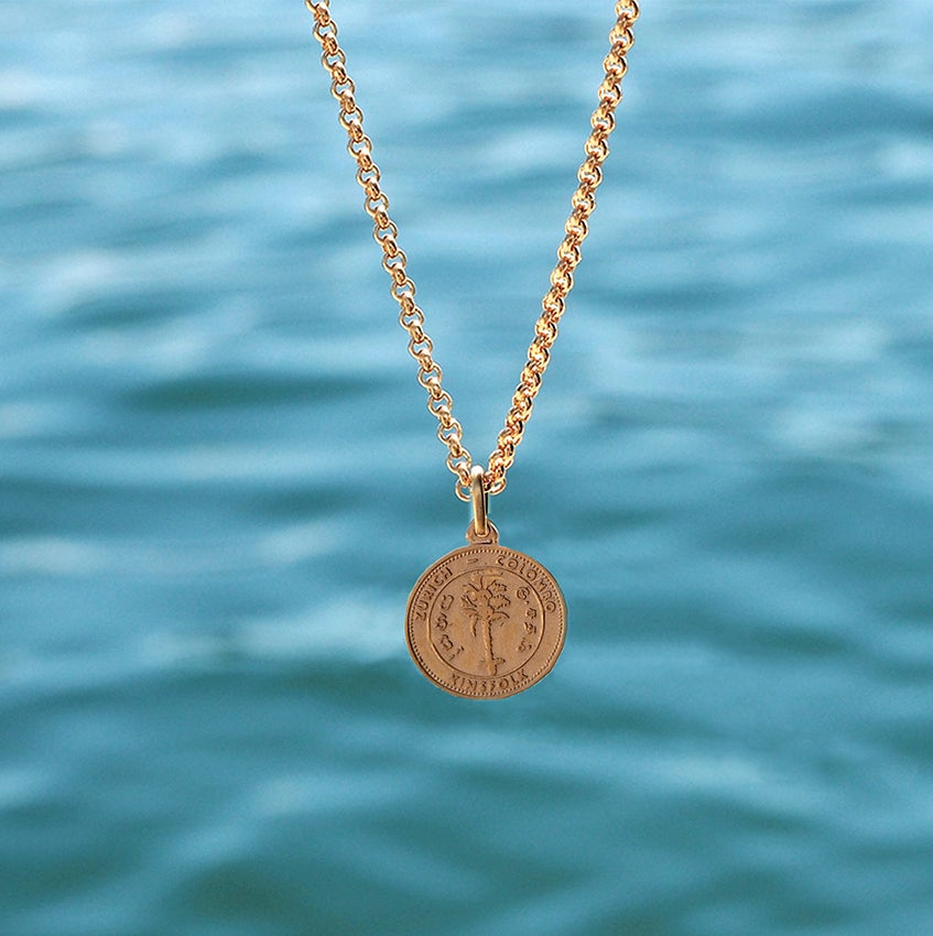 Image of Coin Necklace Gold