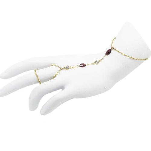 Image of Garnet & Topaz Hand Chain