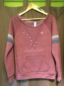 Image of Alaska Love Slouchy Sweatshirt- Cranberry