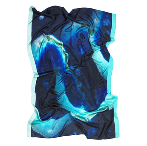 Image of Atoll | Blue Atoll Silk Wall Hanging & luxe sarong