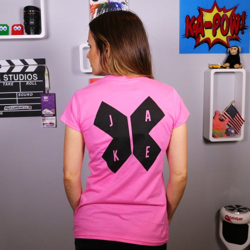 Image of Jake 'X' Pink T-Shirt! (with Back Print)