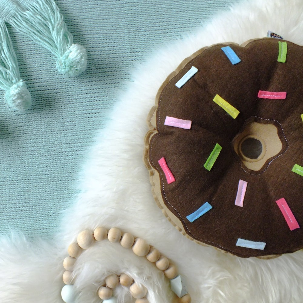 Image of ORIGINAL DONUT - CHOCOLATE FROSTING WITH MULTI SPRINKLES