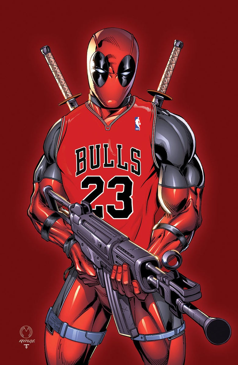 Image of Deadpool Sports Print