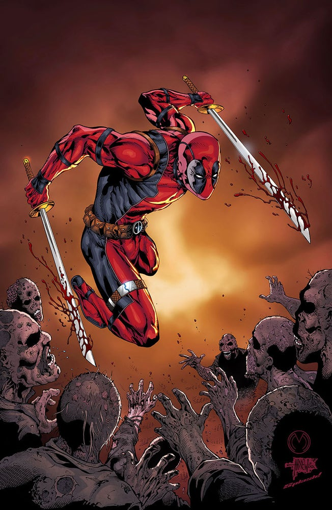 Image of Walking Deadpool Print