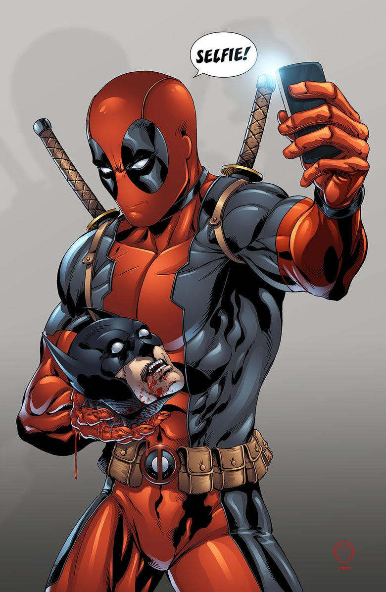 "Image of Deadpool ""Selfie"" Print"