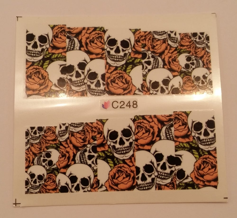Image of Skull full cover water decals. Various designs.