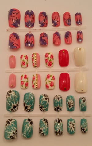 Image of Value set of false nails. Various designs available.