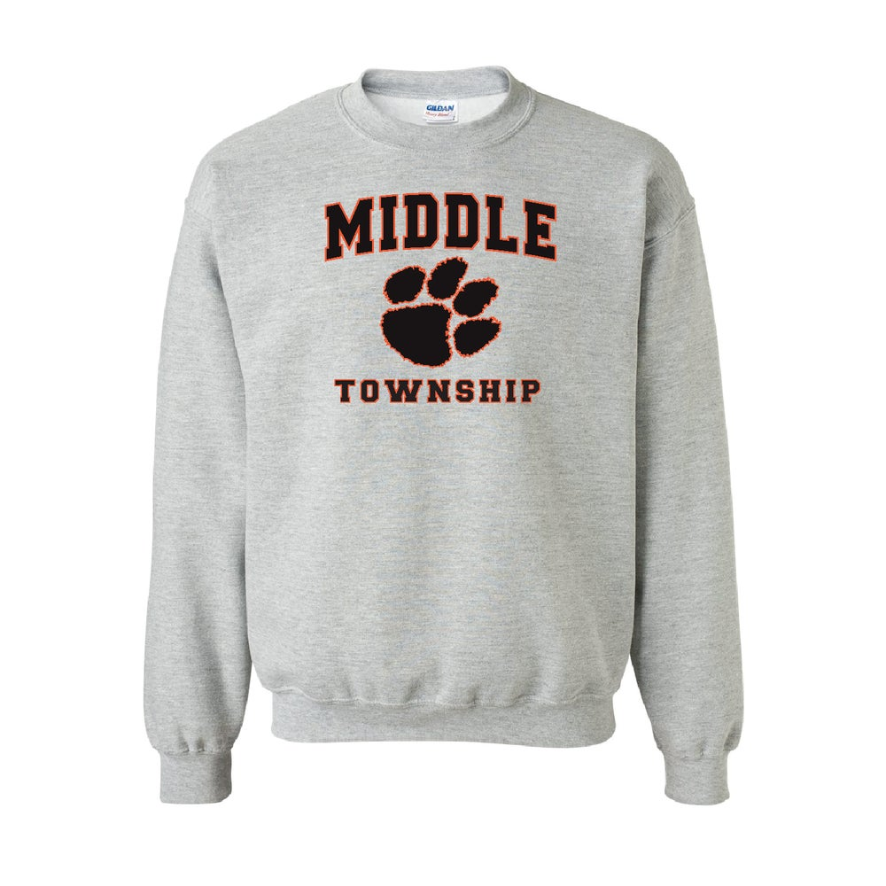 Image of Crew Neck Sweatshirt w/ Athletic Logo (Gray)