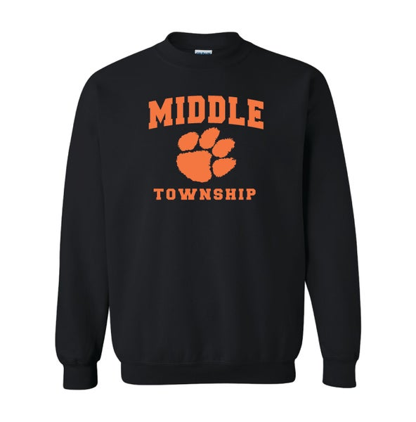 Image of Crew Neck Sweatshirt w/ Athletic Logo (Black)