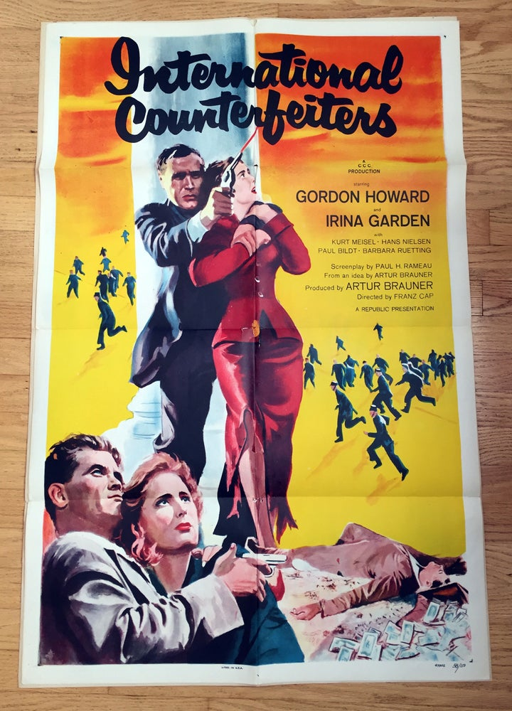 Image of 1952 INTERNATIONAL COUNTERFEITERS Original U.S. One Sheet Movie Poster