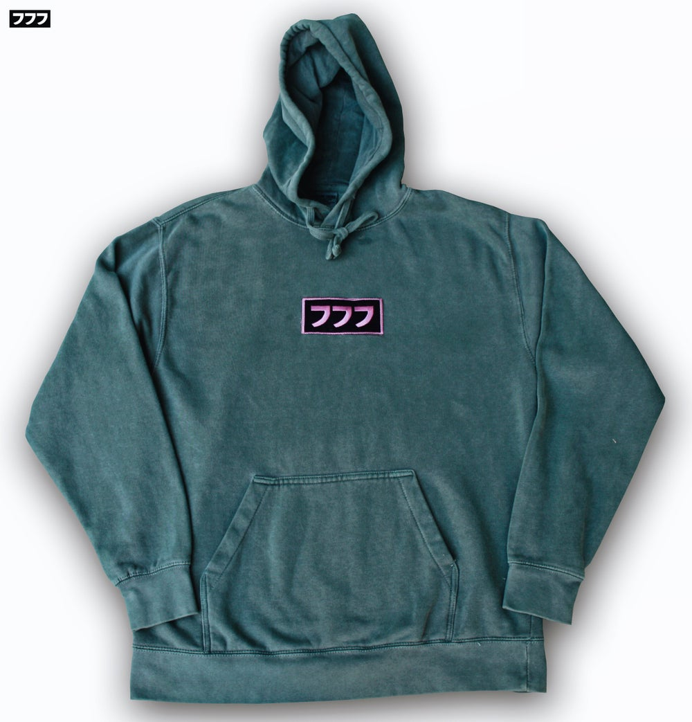 Image of 777 PIGMENT DYED LOGO HOODIE
