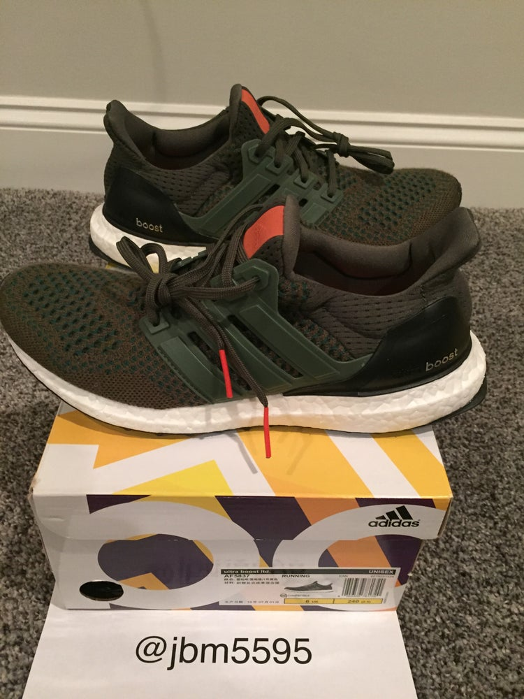 11a3c180ba5 Adidas Ultra Boost LTD AF3857 Olive Size 7.5   Blue Knight Sports