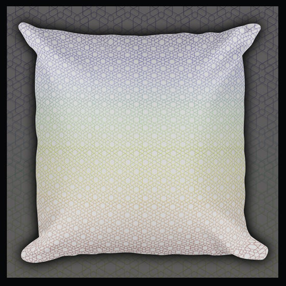 Image of 'Rainbow Hexagon' Pillow