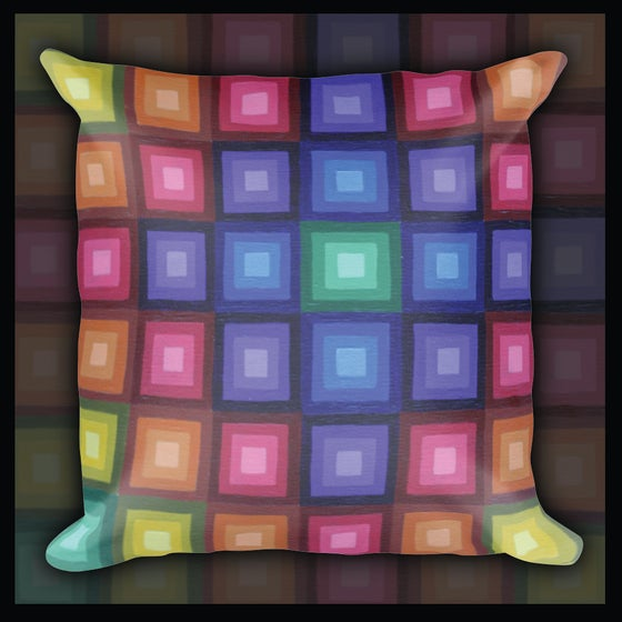 Image of 'Perception Squared' Pillow