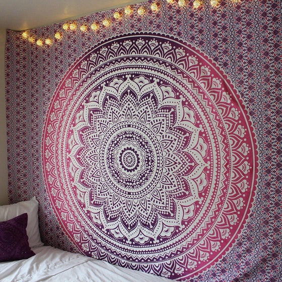 Image of Crimson Mandala Tapestry