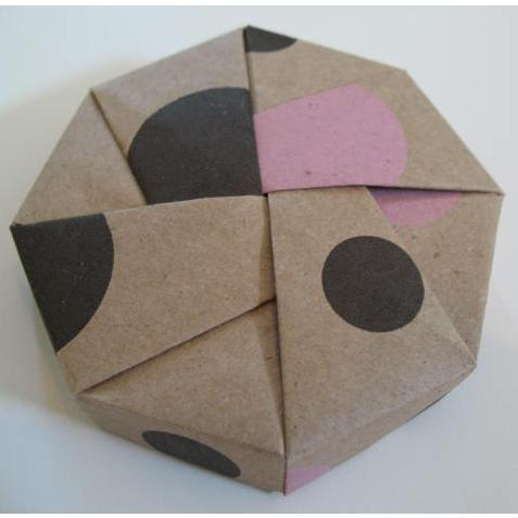 Tree Hugger Box Origami Octagon Boxes Kraft Patterned Handcrafted