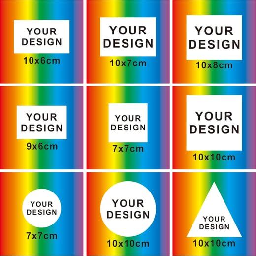 Colors---Custom Eggshell Stickers