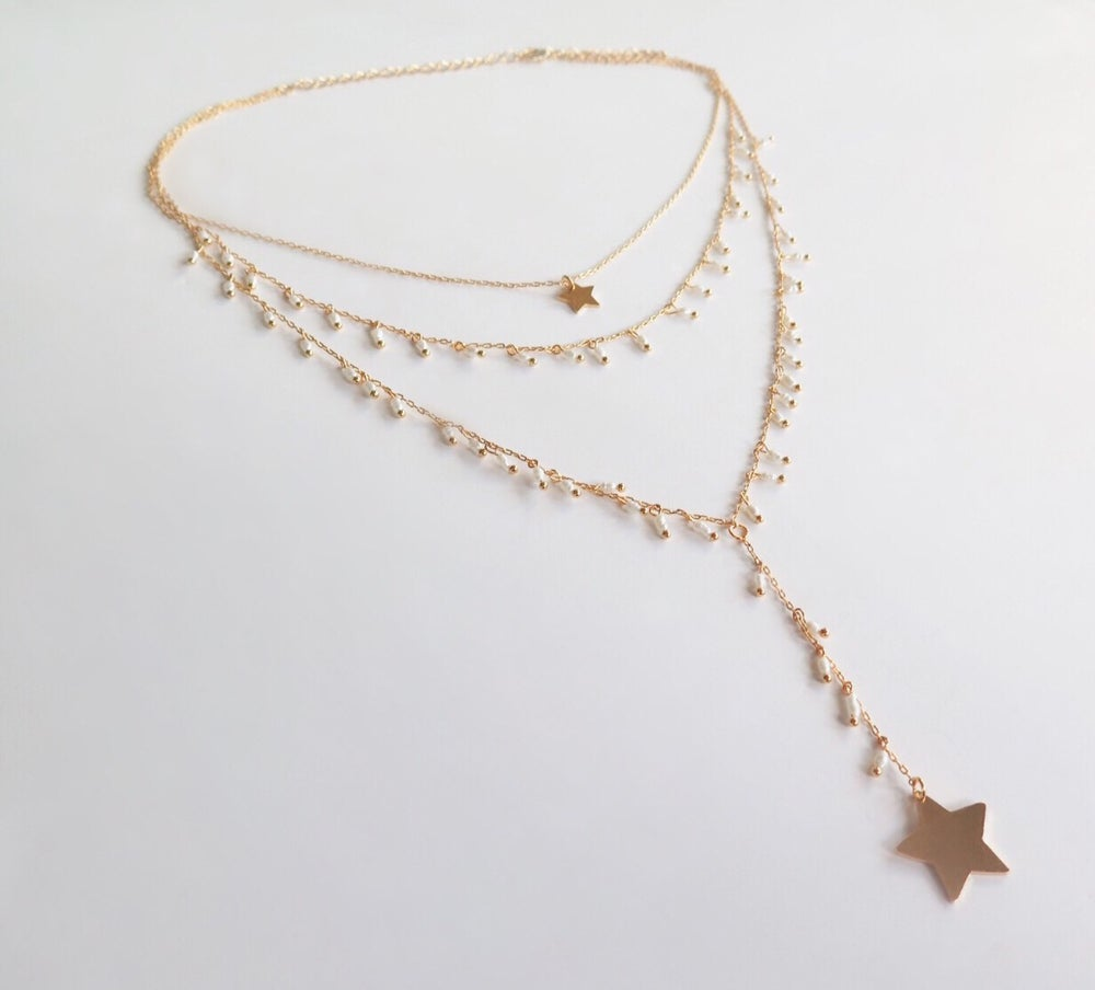 Image of Star Triple Necklace