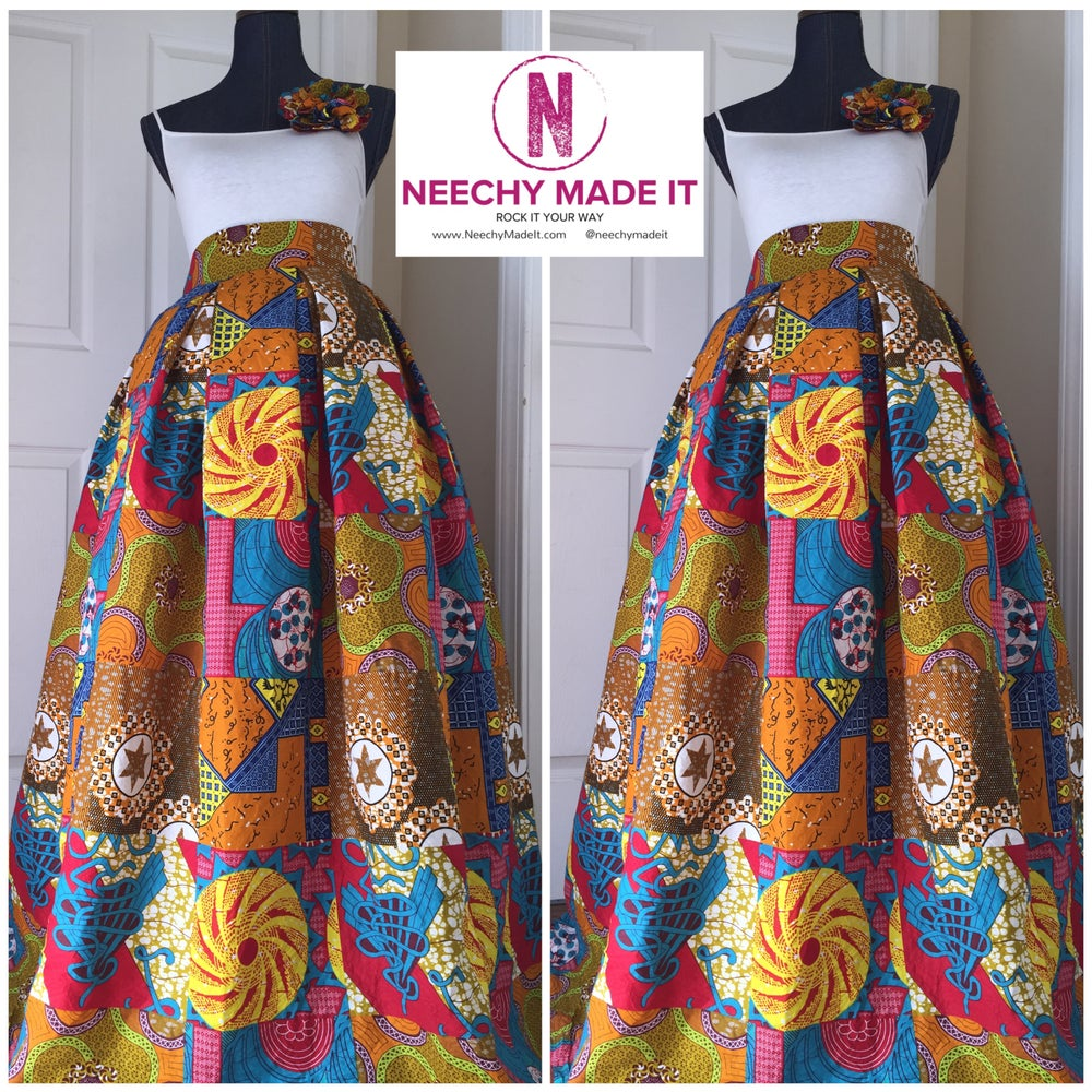 Image of Neechy's Pleated Maxi Skirt