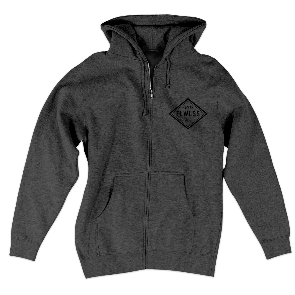 Image of EST.13 ZIP-UP - GUNMETAL HEATHER