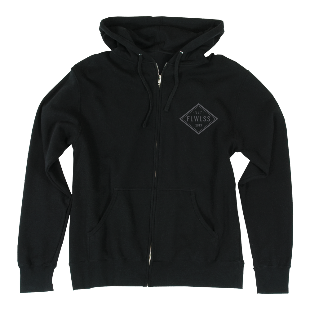 Image of EST.13 ZIP UP - BLACK