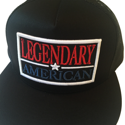 Image of Legendary American Patch Trucker in Red, White, and Blue