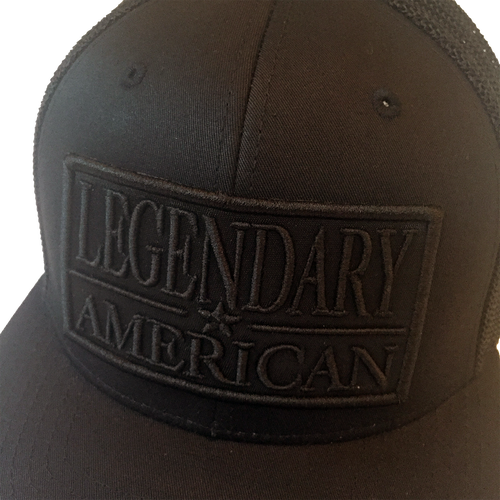Image of Legendary American Patch Snapback in Black