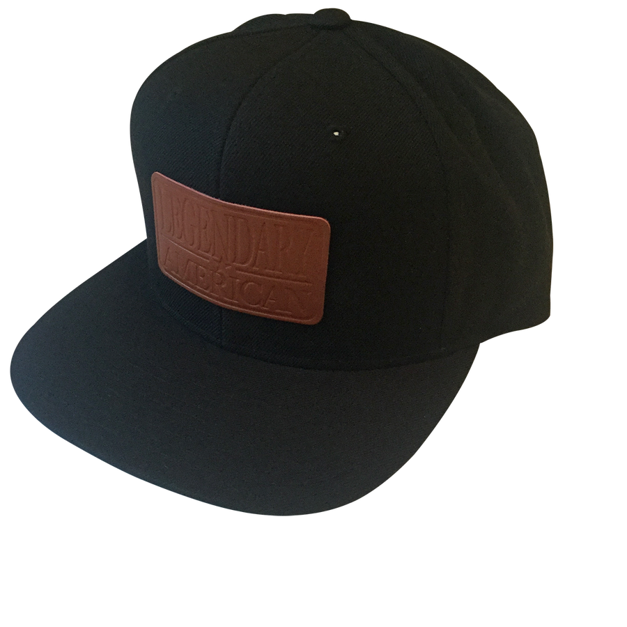 Image of Legendary American Patch Snapback in Stamped Leather