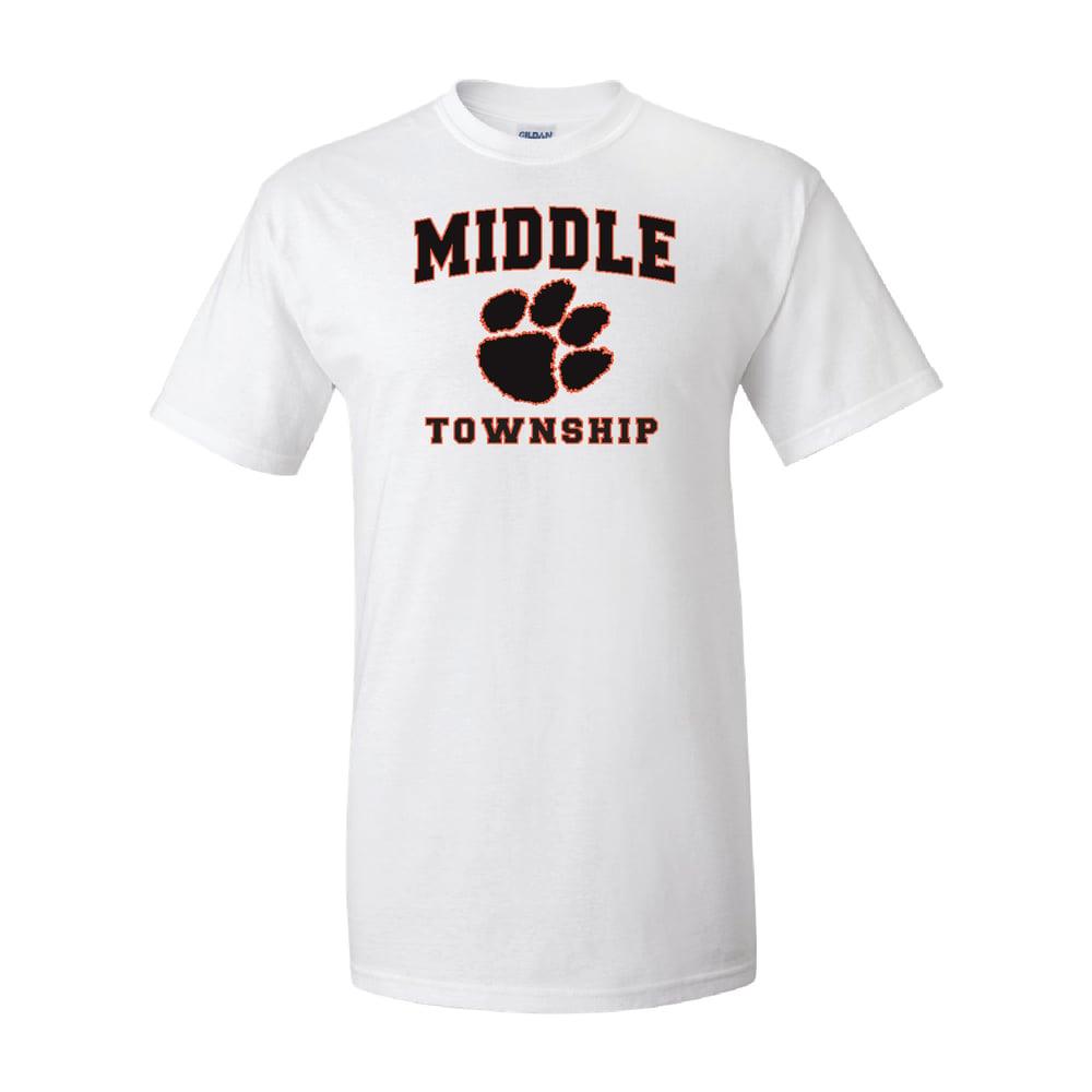 Image of T-Shirt w/ Athletic Logo (White)