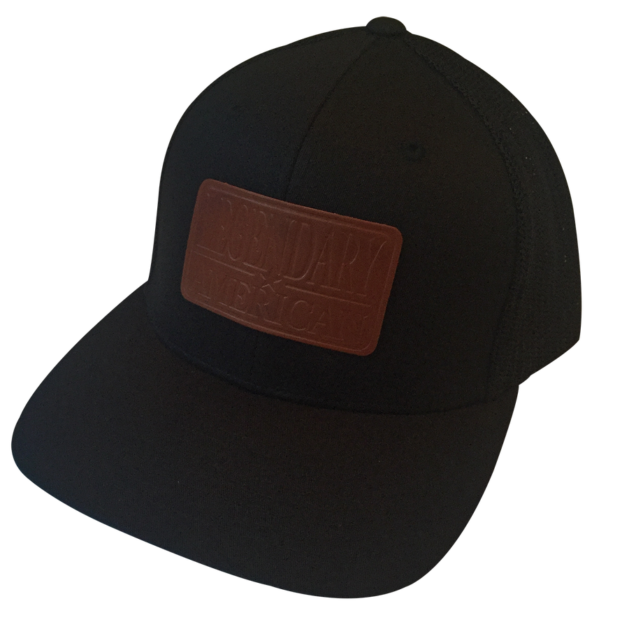 Image of Legendary American Patch Flexfit Trucker in Stamped Leather