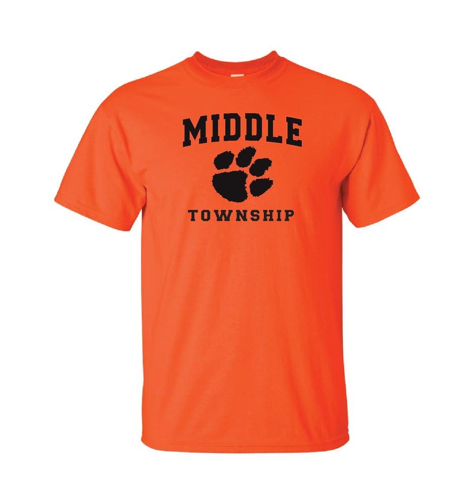 Image of T-Shirt w/ Athletic Logo (Orange)