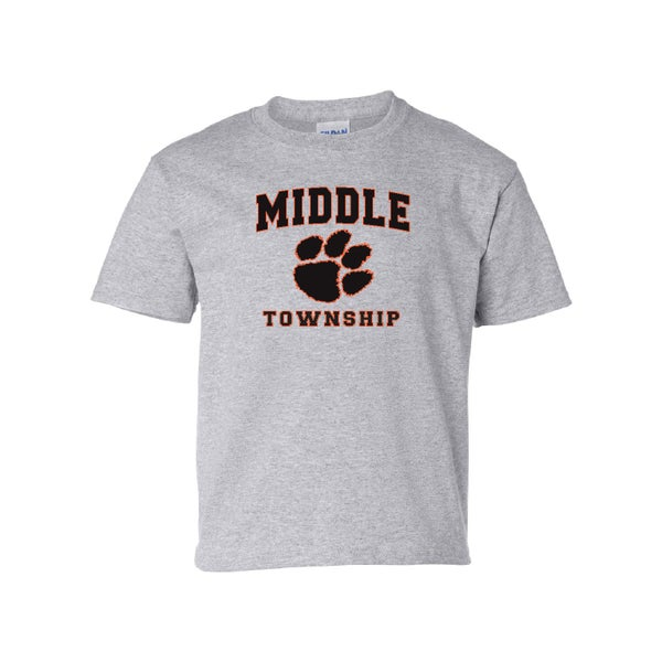 Image of Youth T-Shirt w/ Athletic Logo (Gray)