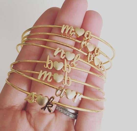 Image of Shiny script love letter bangle (limited)