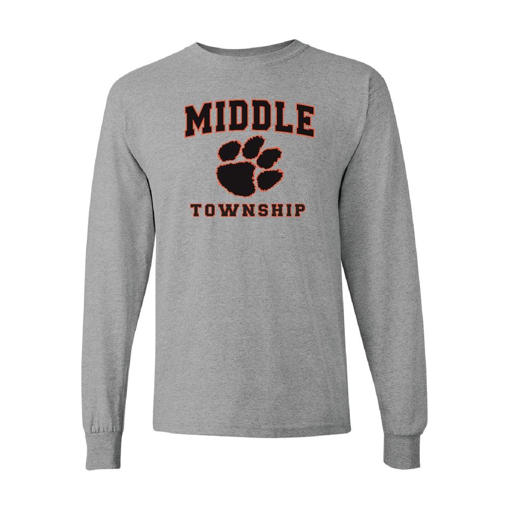 Image of Longsleeve T-Shirt w/ Athletic Logo (Gray)
