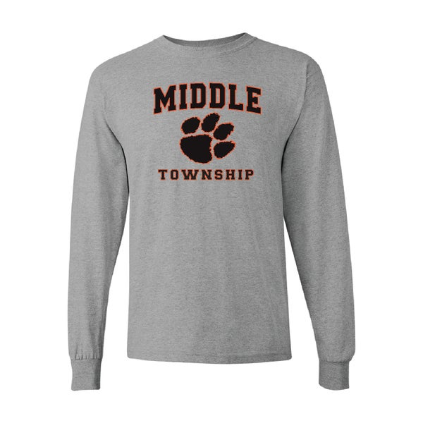 Image of Longsleeve T-Shirt w/ Athletic Logo (Gray)