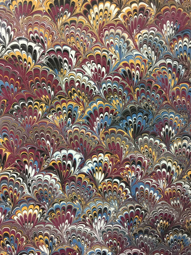Image of Marbled Paper #4 Peacock Marbled Paper