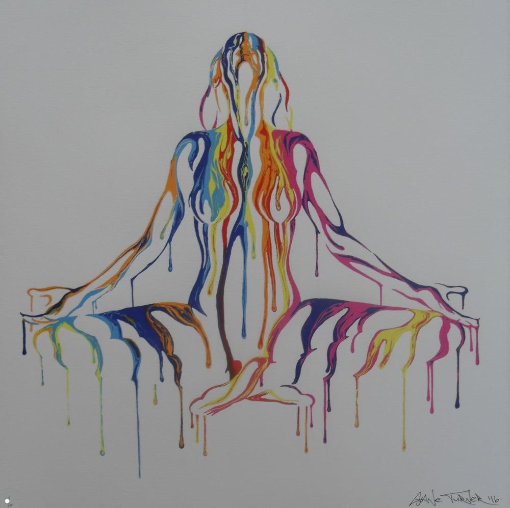 """Image of SHANE TURNER - """"PSYCHAMELEON TRANSCENDENCE"""" - LTD ED 125 - 60CM X 60CM"""