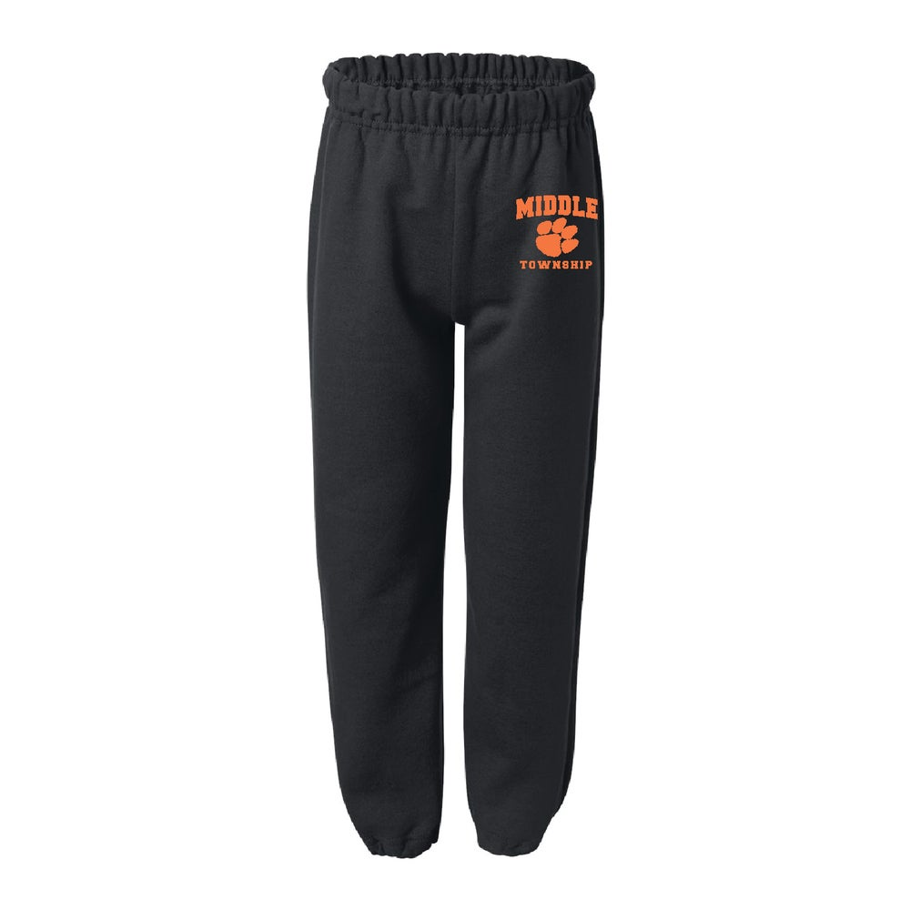 Image of Youth Sweatpants w/ Athletic Logo (Black)