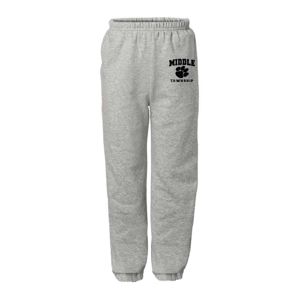 Image of Youth Sweatpants w/ Athletic Logo (Gray)