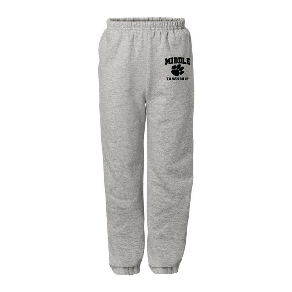 Image of Youth Sweatpants w/ Athletic Logo (Gray)