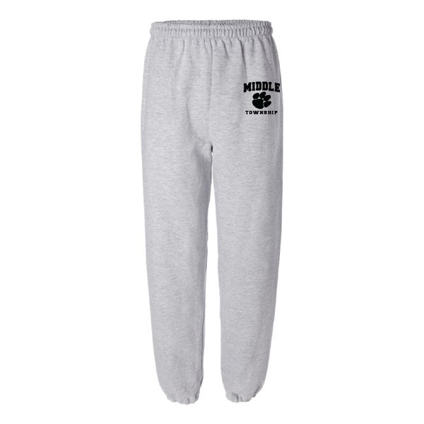 Image of Sweatpants w/ Athletic Logo (Gray)