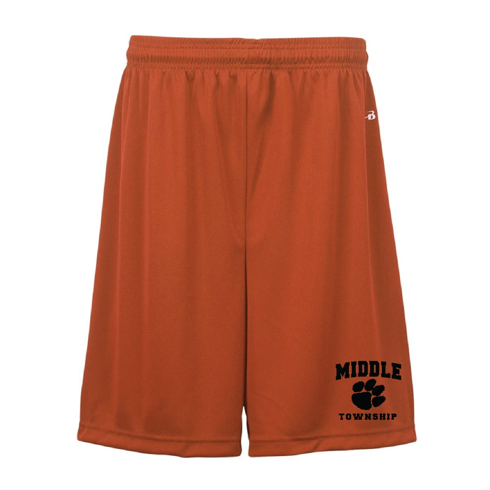 Image of Youth Shorts w/ Athletic Logo (Orange)